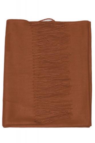 Echarpe uni en Laine de couleur marron