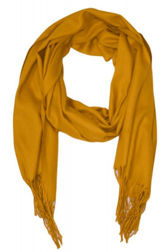 Echarpe uni en Laine de couleur gold
