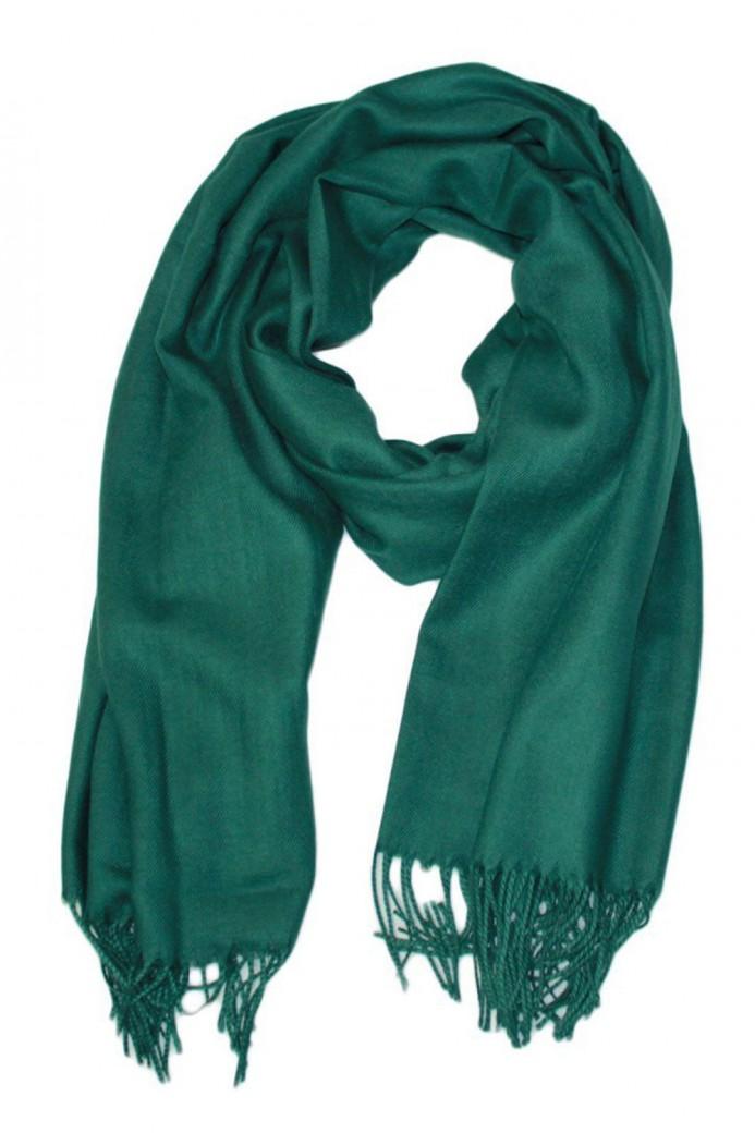 Echarpe uni en Laine de couleur vert
