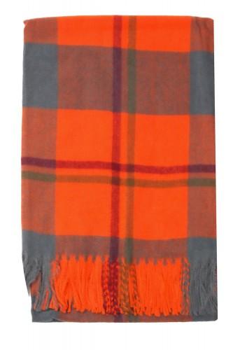 Echarpe à carreaux orange