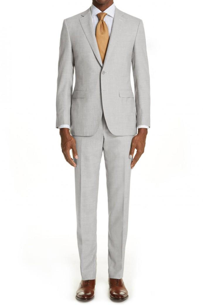 Costume en lin gris