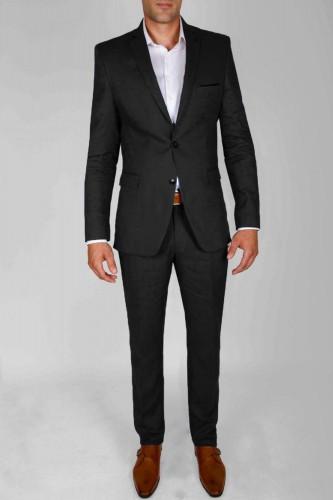Costume en lin noir