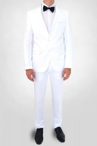 Costume en lin blanc