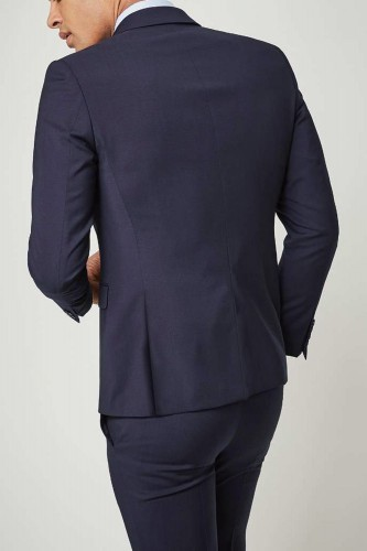 Costume 2 boutons droit bleu marine