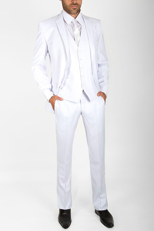 Costume blanc 3 pièces