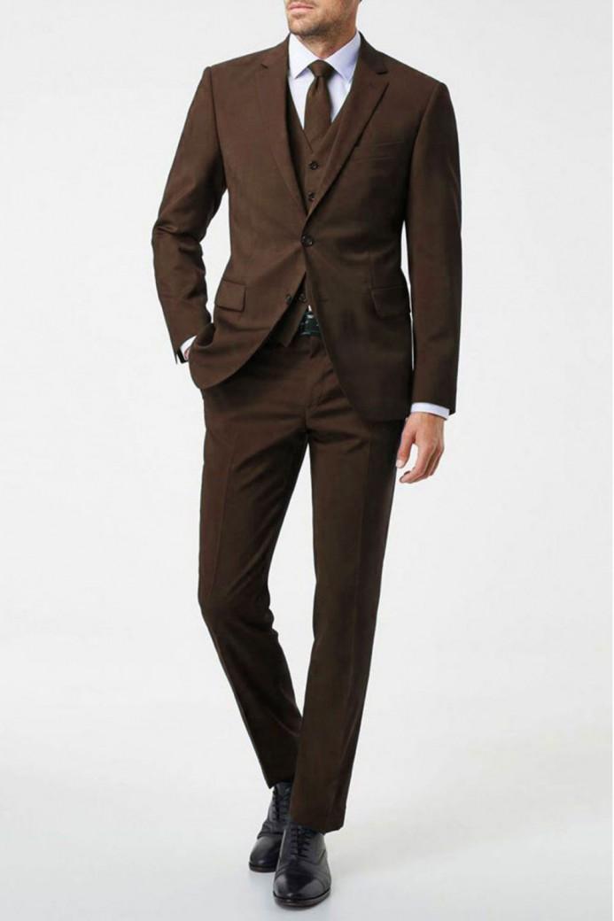 Costume marron 3 pièces