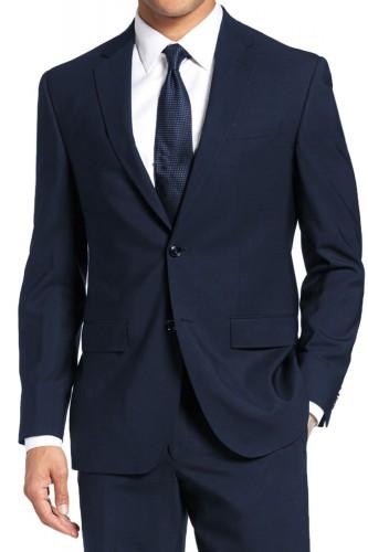 Costume cintré 2 boutons bleu marine