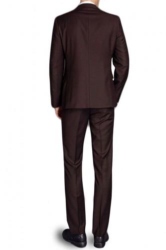 Costume coupe classique marron