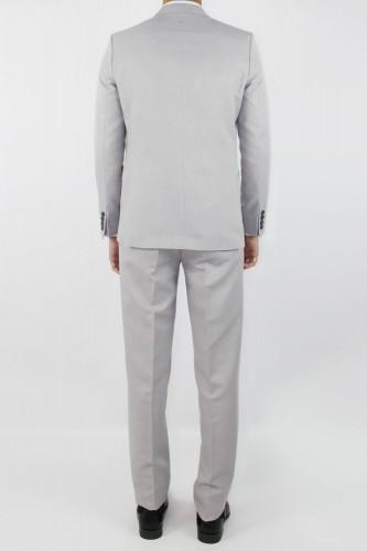 Costume croisé gris