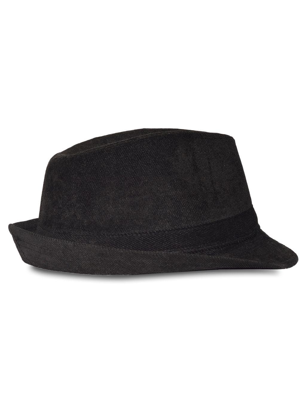 Chapeau trilby en velours noir