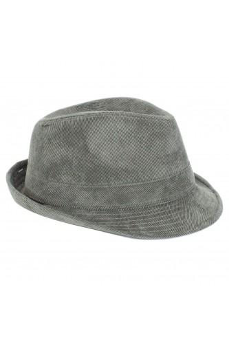 Chapeau trilby en velours gris
