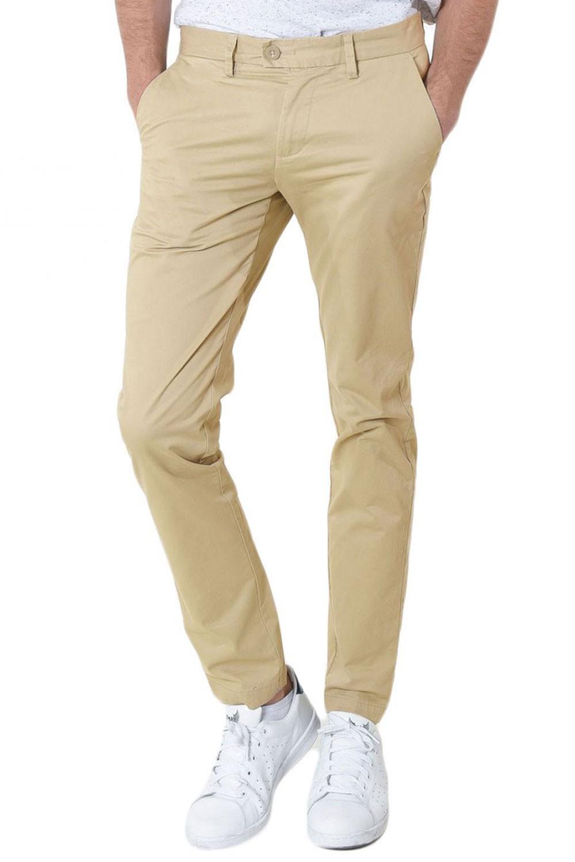 pantalon chino beige
