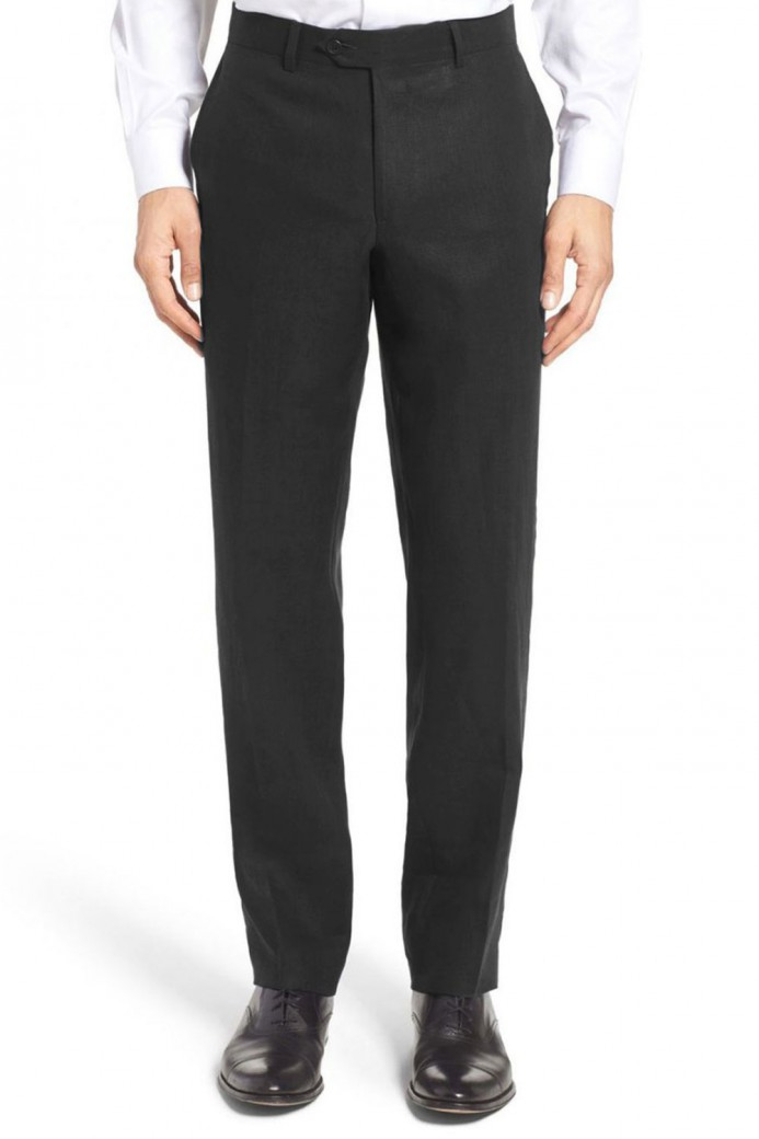 Pantalon en lin noir