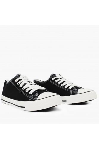 Baskets basses en toile noir