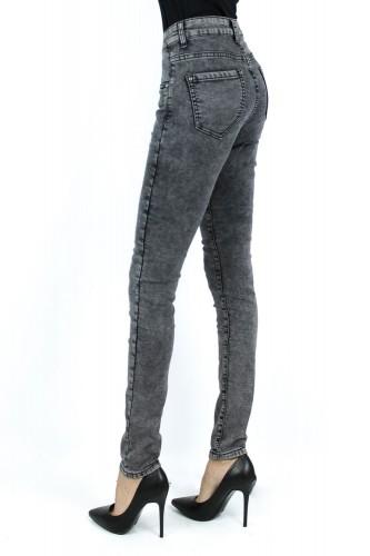Jeans gris delavé