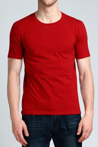 T-Shirt rouge manches courtes