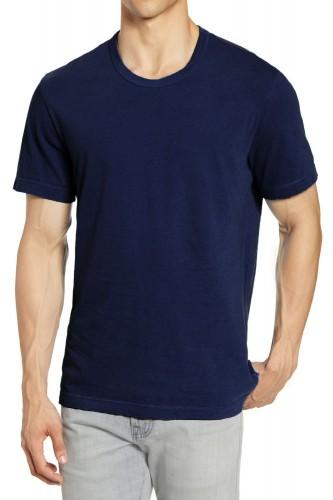 T-Shirt marine manches courtes