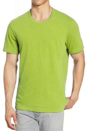 T-Shirt vert manches courtes