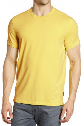 T-Shirt jaune manches courtes