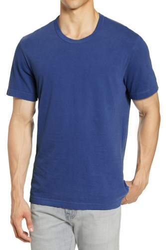 T-Shirt bleu manches courtes