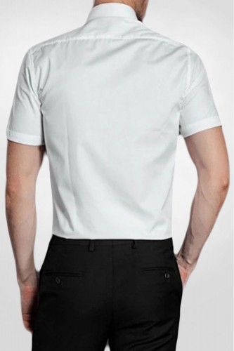Chemise blanche manches courtes