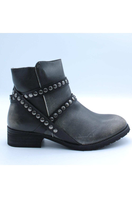 Bottines à rivets noir