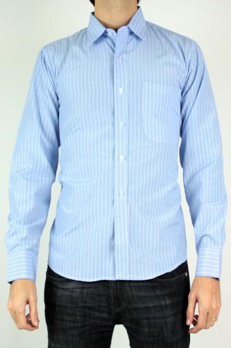 Chemise à rayures bleu ciel
