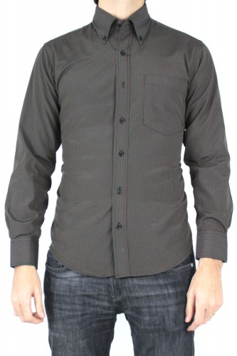 Chemise à rayures noir