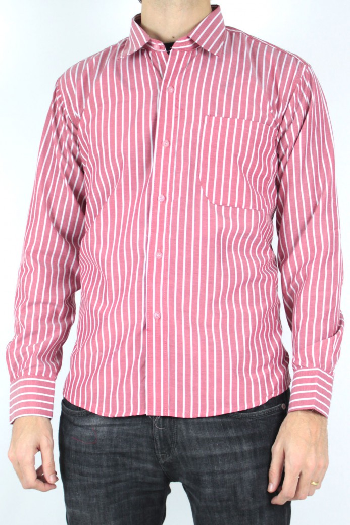 Chemise à rayures rouge