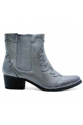 Bottines santiags grises