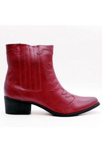 Bottines santiags rouges