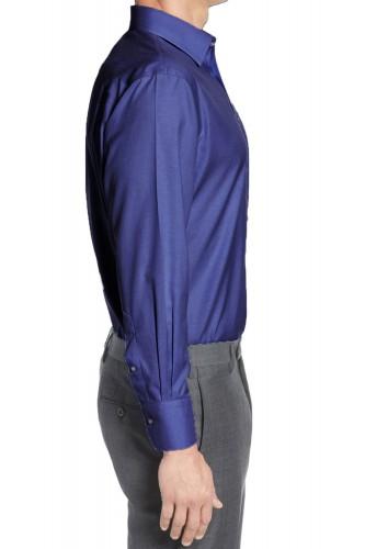 Chemise bleu marine en coton