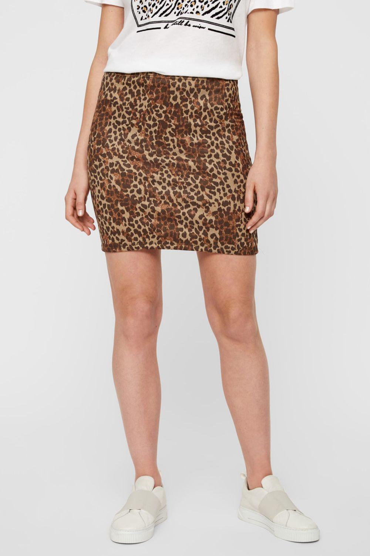 Jupe motifs léopard
