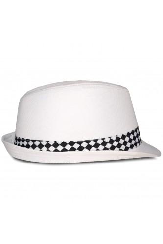 Chapeau trilby blanc