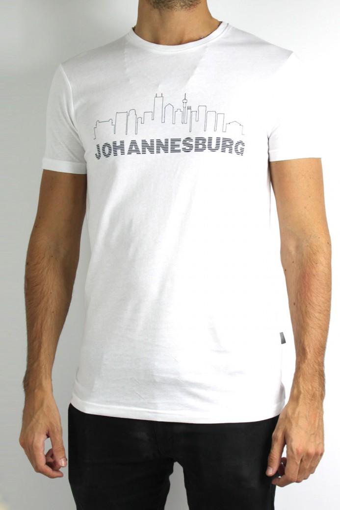T-Shirt SOLID Johannesburg blanc