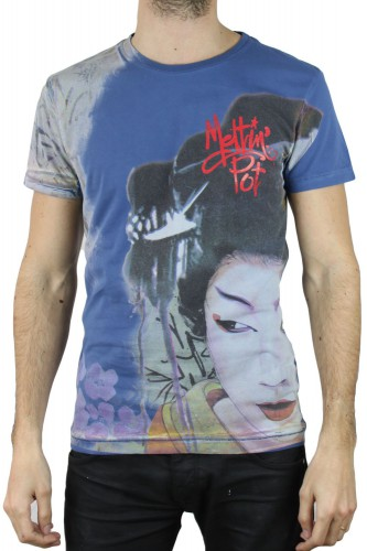 T-Shirt Meltin Pot Armas02 bleu