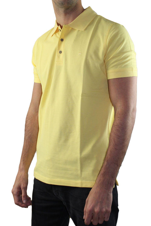 Polo manches courtes jaune