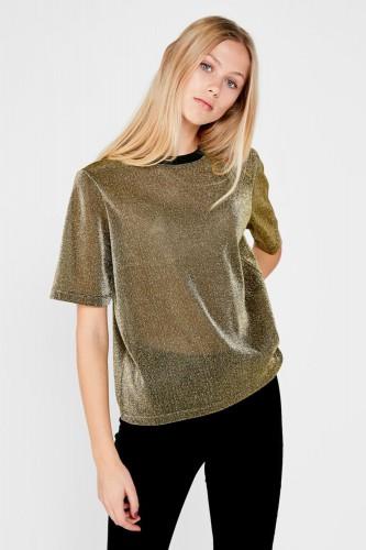 T-Shirt à pailletes gold