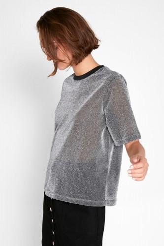 T-Shirt à pailletes silver