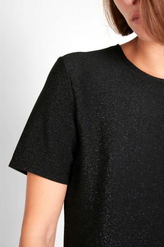T-Shirt à pailletes noir