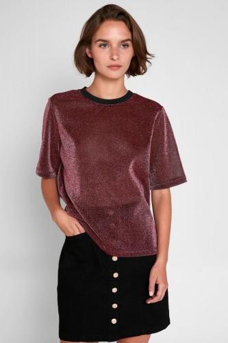 T-Shirt à pailletes rose