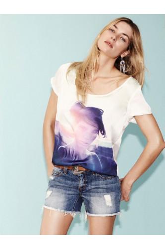 T-Shirt blanc Grunge