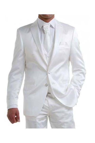 costume homme satin blanc cass 50v 42p ebay. Black Bedroom Furniture Sets. Home Design Ideas