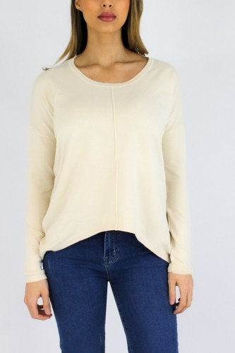 Pull Long col rond