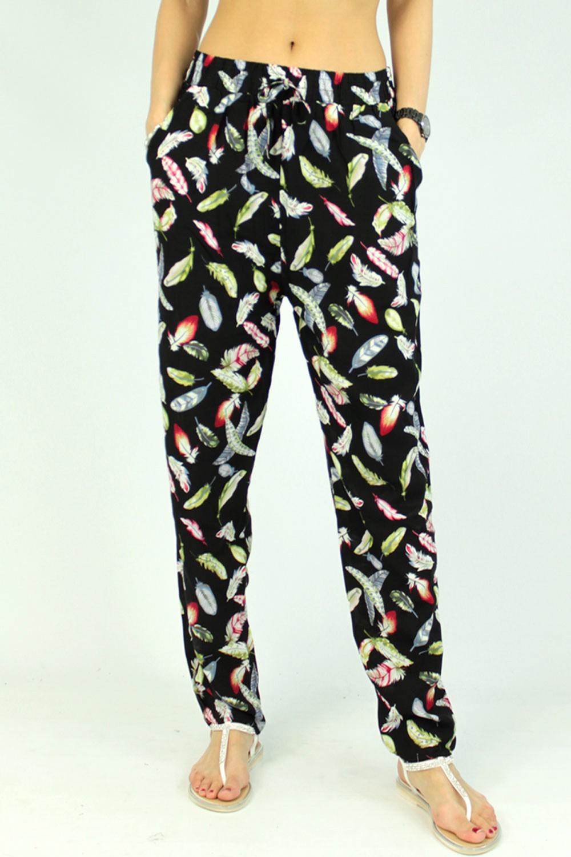 Pantalon à motifs floral