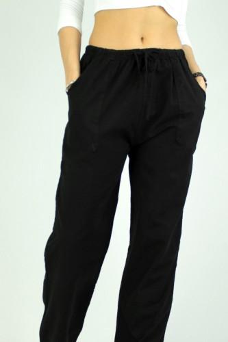Pantalon coupe large, en coton