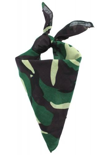 Bandana camouflage en coton