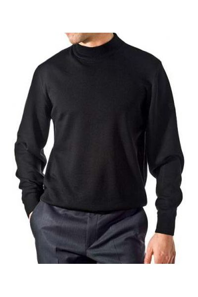 pull de couleur noir en merinos col chemin e pas cher kebello com. Black Bedroom Furniture Sets. Home Design Ideas