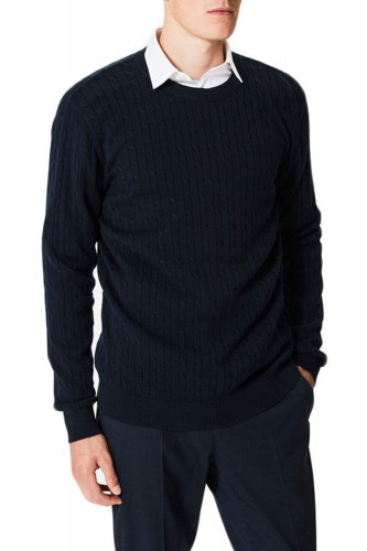 Pull tricot col rond