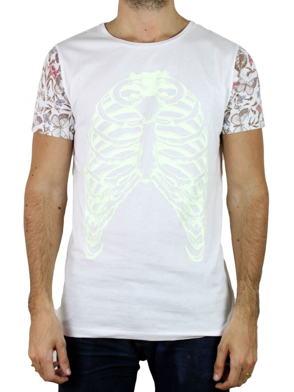 T-Shirt Bones and Butterfly